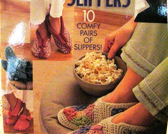 Hooked on Crochet - Slippers - 10 Comfy Pairs of Slippers - Annie's Attic - House Slipper Patterns - Crochet Patterns - DIY Tutorial