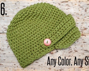 Crochet hat with bill