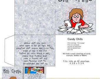 PRINT YOUR OWN Bills Candy Chills For Snack Sized Bag Of Candy