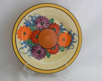 Original Hand Painted Bizarre by **CLARICE CLIFF** GAYDAY Plate  c1931 - Exc.
