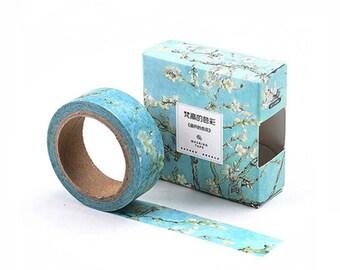 Apricot Blossoms Washi Tape, Apricot Flowers Washi Tape, Almond Flowers Washi Tape, Flowers Washi Tape