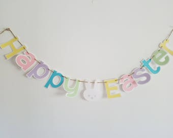 Happy Easter Banner, Easter Decorations, Easter, Easter Bunny, Spring Decor