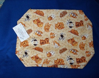 Set of 4 Cute Puppy Placemats