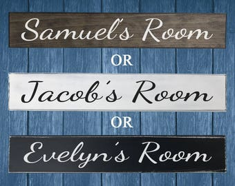 Painted Bedroom Name Sign - Bedroom Name Plates - Bedroom Decor - Kids Bedroom Decor - Kids Bedroom Door Sign - Kids Name Sign