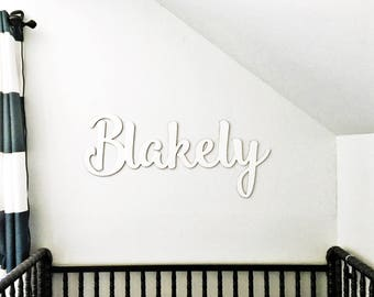Girls Room Decor - Baby Shower Decor - Personalized Cutout Name Sign - Birthday Photo Prop - Calligraphy Name Sign - Laser Cut