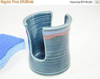 ON SALE Sponge Holder - Spongeholder - Dish Sponge Holder - Sink Organizer - Pottery Sponge Dish - Kitchen Holder - Letter Holder - In Stock