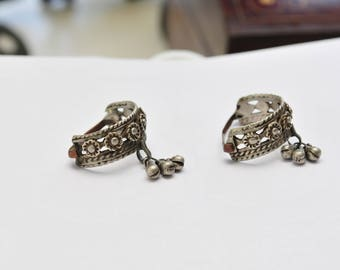 Vintage Tribal Silver Toe Rings