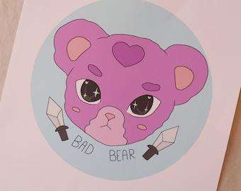 Bad Bear Print