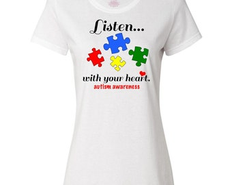 Autism Awareness Women's T-Shirt by Inktastic