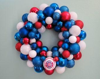WORLD Series Champions CHICAGO CUBS Team Baseball Ornament Wreath