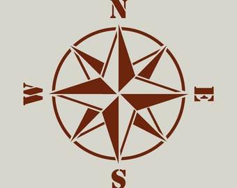 Compass rose stencil. Compass. Compass (ref 72)