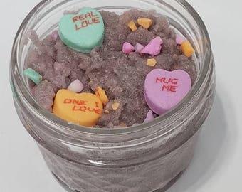 Be Mine Sugarscrub, Lip Scrub, Body Scrub, Candy Scrubs, LipCare, Sugar Lip Scrubs  Hydrating, Ultra Violet lip, Foot Scrub, Body Polish