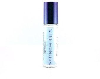 Winter Wonderland Perfume Oil - Peppermint, Vanilla, Pine