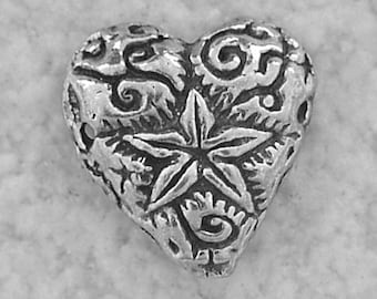 Green Girl Studios Pewter Shining Heart Link