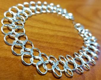 Butterfly Weave Chainmaille Bracelet, Thin Bracelet