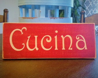 10x4 CUCINA (Choose Color) Shabby Chic Italian Sign