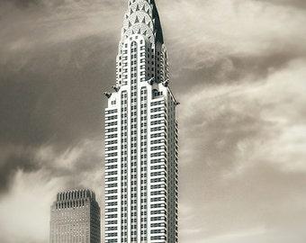 New York Print, Chrysler Building, NYC Wall Art, New York Skyline, Fine Art Photography, Art Deco, New York Wall Decor, New York Buildings