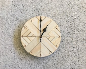 Zylo Wooden Clock - 20cm D (Small)