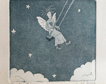 Angel Etching Print