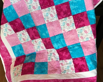 Pink and Blue Crib Quilt