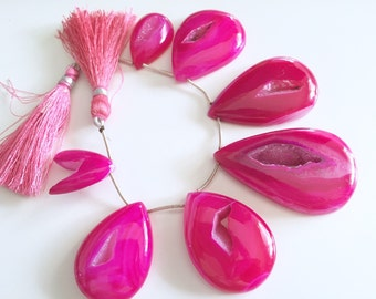 Full  Strand of hot pink Druzy  wholesale 35.00