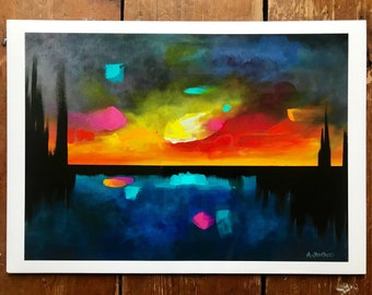 Giclée PRINT of original abstract landscape painting by Amy Struthers
