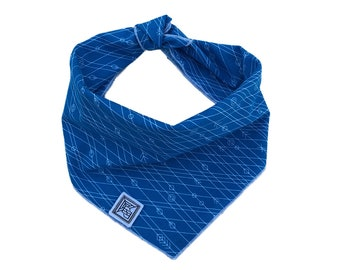 Larkspur Dog Bandana | Blue Dog Bandana | Handcrafted Modern Tie-on Dog Scarf
