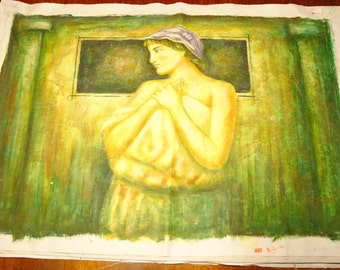 Oil Painting, unstretched Canvas