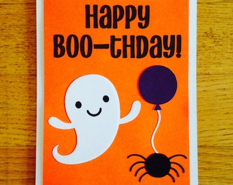 Items similar to halloween greeting card happy halloween to my happy birthday card happy boo thday halloween birthday card funny bookmarktalkfo Images