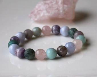 ANXIETY RELIEF BRACELET, Stress Relief, Release Negativity, Anxiety Jewelry, 10MM Gemstone Beads