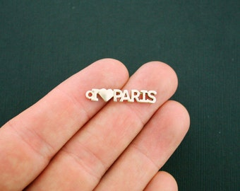 4 Paris Charms Gold Tone I Love Paris - GC960