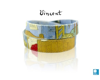 Van Gogh Bracelet Bedroom in Arles Handmade Canvas Art Bracelet Collar Necklace