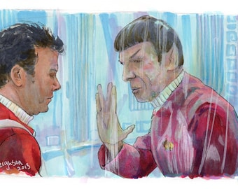 """Star Trek II: The Wrath of Khan - I have been and always shall be your friend 5""""x11"""" Poster Print"""