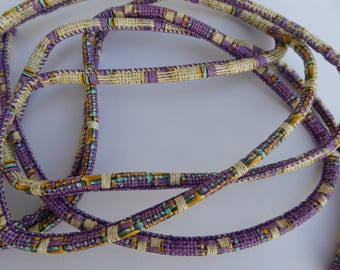 1 m purple beige cord 6 mm tile