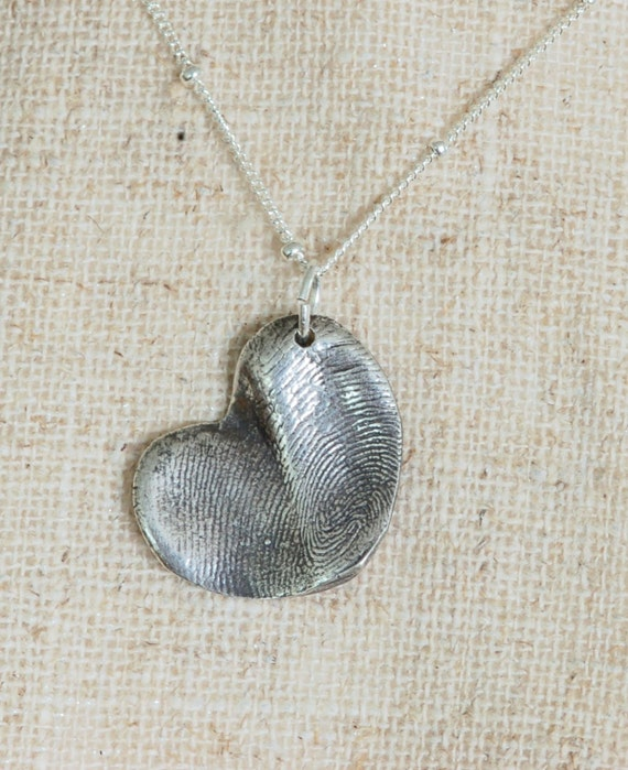 Partner - Single Child - Sorority Sister - Celebrate a Union Gift - Fingerprint heart necklace