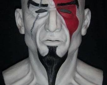 Kratos/The Warrior Silicone mask by Slabworx (4 to 6 week turn around)