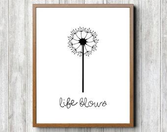 Life Blows 8 x 10 Printable