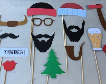 Lumberjack photo props