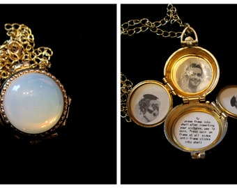 Beneath the Moonglow - Vintage Coro 4 Picture Locket Necklace