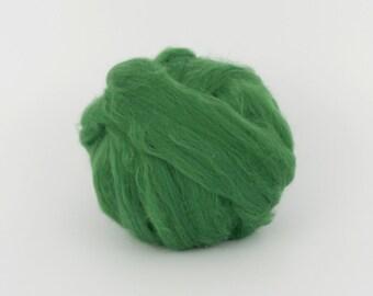 DarkGreen B139 1.77oz (50gr), 19mic Extra Fine Merino Wool  Felting Wool, For Spinning And Needle Felting.  100% wool.