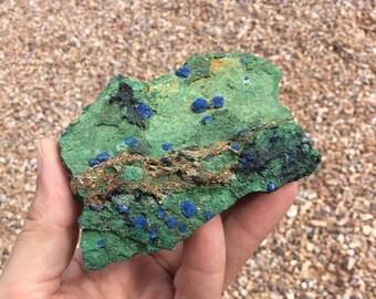 Malachite with Botryoidal Azurite