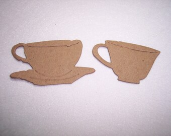 Die Cut Coffee, Tea Cups set of 6