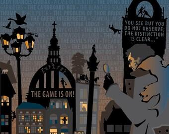 Sherlock Holmes Print 11x14
