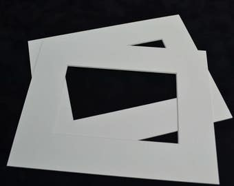 """11"""" x 9"""" Picture Mount to fit 7"""" x 5"""" (Pack of 6)"""