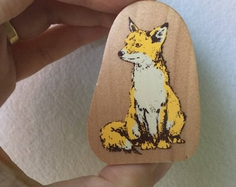 Fox Stamp - Woodland Stamp - Kodomo no Kao