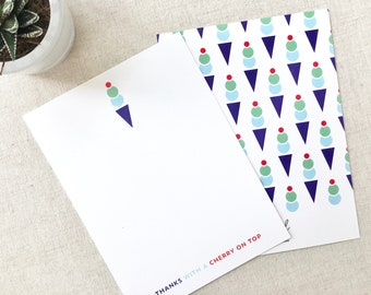 Thanks With A Cherry On Top: Modern & Unique Customizable Stationery