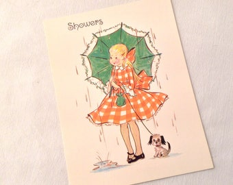 Vintage Congratulations Kitsch Greeting Card