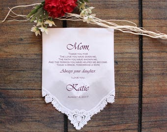 Mother of the Bride Gift mother of the groom gift mother in law Handkerchief printed wedding handkerchief wedding gift idea ViCop[88]