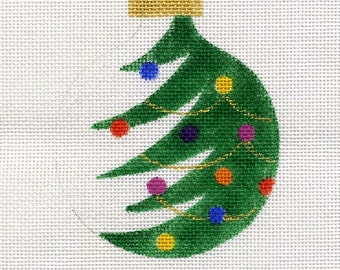 Half Christmas Tree Needlepoint Ornament - Jody Designs B50