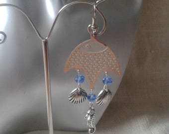 "Earrings ""connector fish"""